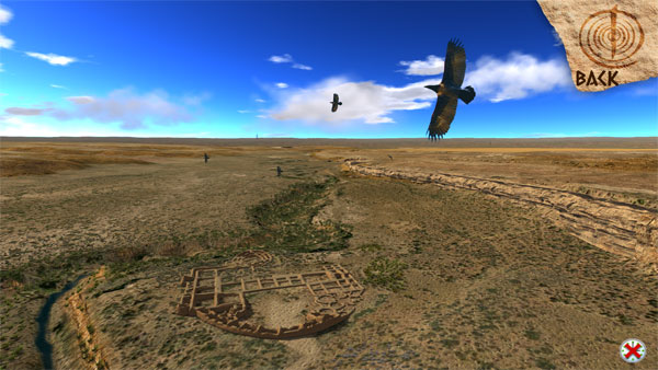 fly with the ravens over the canyon in free fly mode