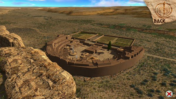 detailed 3d image of the restored pueblo bonito great house