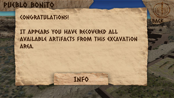 pottery recoverd artifacts screen