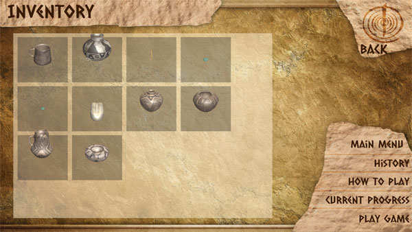 anasazi artifacts collected from within the game