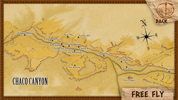 overview of chaco canyon free fly map