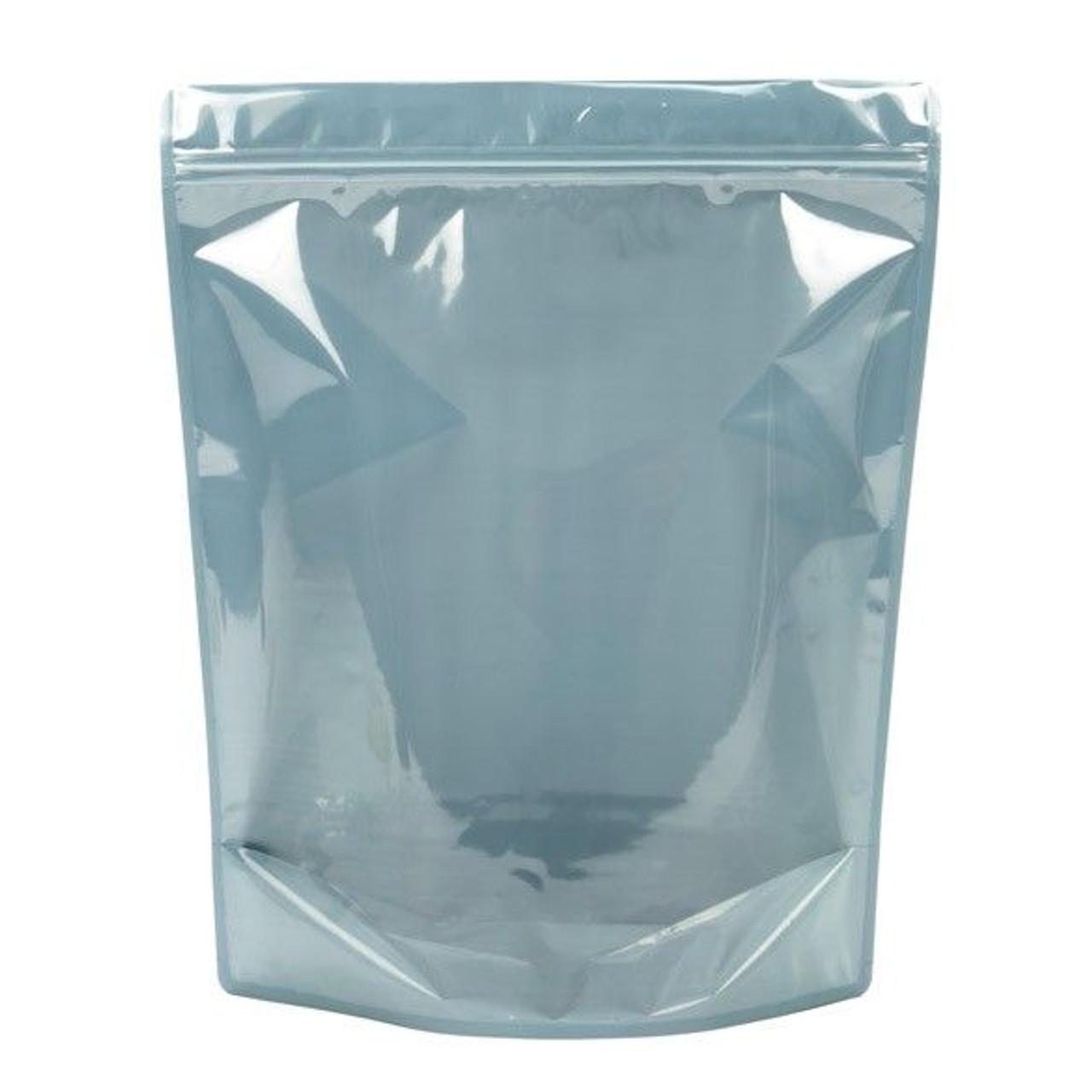 100 White//Clear Mylar Bags Resealable Ziplock SINGLE GRAM