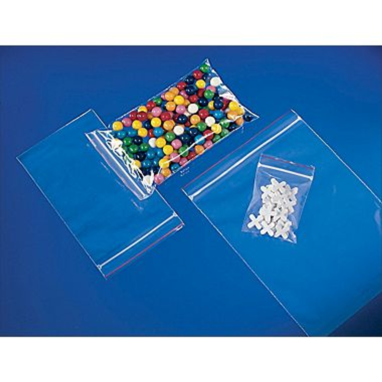 1000 5x8 Clear Plastic Zipper Poly Locking Reclosable Bags 2 MiL