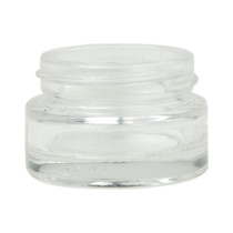 1/2 oz clear glass cylinder low-profile jar with 40-400 neck finish- Case of 200