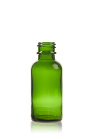 1 oz Green Boston Round Glass Bottle