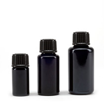 15 ML ULTRAVIOLET GLASS ESSENTIAL OIL BOTTLE WITH EURO DROPPER CAP