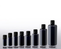 30 ML ULTRAVIOLET GLASS ESSENTIAL OIL BOTTLE WITH EURO DROPPER CAP