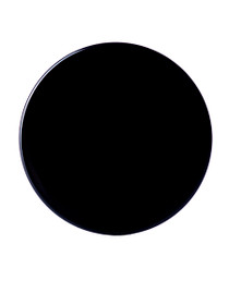 Black PP 38-400 smooth skirt lid with foam liner
