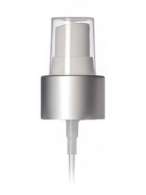 80 ml (2.5 oz) Aluminum Slimline Bottle with White and Matt Silver Sprayer Top