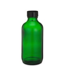 4 oz Green Glass Bottle w/ Black Poly Cone Cap