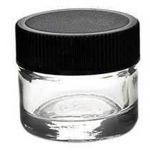 24 pcs, 5ml Glass Jars with Black Caps - great for s, concentrates, oils, rosins. waxs, and pigbug
