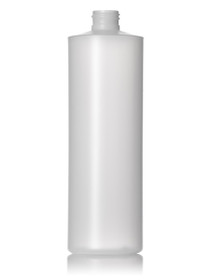 16 oz natural-colored HDPE cylinder round bottle with 24-410 neck finish