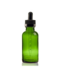 1 oz Green w/ Black Child Resistant Calibrated Dropper