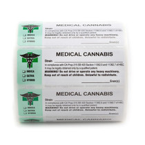 1000 pcs, California Medical  Labels ROLL State Compliant Sticker