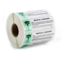 1000 pcs, Generic Medical  Labels ROLL Compliant Sticker - Set of 2