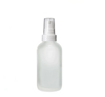 2 Oz Frosted Glass Bottle w/ White Treatment Pump