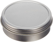 ($.47 ea pk 800) 1 oz silver steel flat tin with slip cover lid