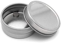 1/4 oz silver steel flat tin with slip cover lid- Case of 3600