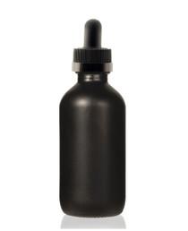 2 Oz Specialty Volcanic Black Boston Round w/ Black Child Resistant Calibrated Dropper