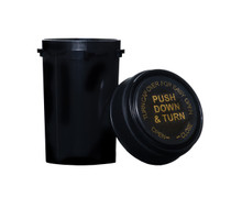 20 Dram Push & Turn Reverse Cap Bottles - 240/ Case - Black