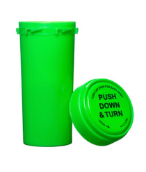 30 Dram Push & Turn Reverse Cap Bottles - 190/ Case - Green