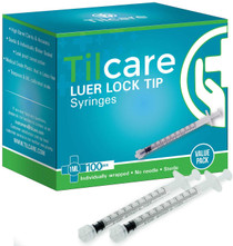 1ml Syringe Without Needle Luer Lock 100