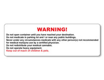 Warning Labels - Generic - 1, Warning Labels - Generic - 1,000 Count000 Count