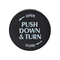 Push & Turn Cap Vial Black 30 Dram