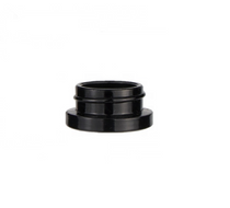 5 ml Glossy Black Glass Concentrate Container 28mm w/ Cap -504 Count