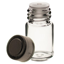 5/8 Dram Clear Glass Vial - w/Orifice Reducer & Black Cap