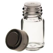 5/8 Dram Clear Glass Vial - w/Orifice Reducer & Black Cap