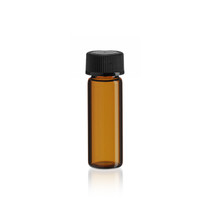 1 Dram Amber Glass Vial w/ Cap - Pkg. of 144