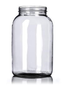 1 gallon clear glass jar with 110-400 neck finish