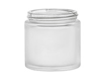 4oz Frosted GLASS Jar Straight Sided (