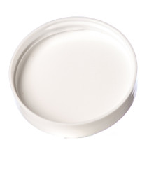 White PP 53-400 smooth skirt lid with foam liner