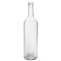 750 ml Clear Glass Claret Wine Bottles