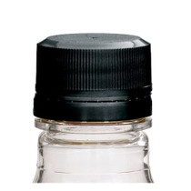 28-KERR Black PP Plastic Tamper-Evident Screw Top Caps