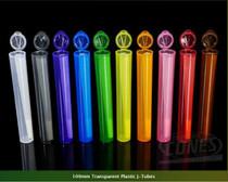 109mm Transparent Mix Plastic J-Tubes 1000/Box