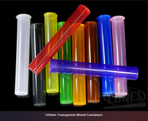 109mm Transparent Mix Plastic J-Tubes 1000/Box