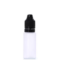 1000 pcs , 30 mL natural-colored LDPE Tamper-Evident With CRC & Temper Evident Bottle with Black Cap