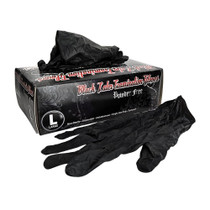 Skintx Black Latex Powder-Free Gloves - 1000 Count