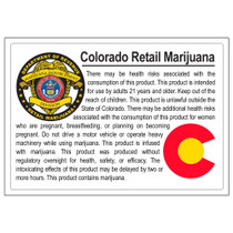 Colorado Compliant Labels - Retail Marijuana - 1000 Count
