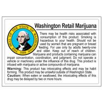 Washington Compliant Labels - Retail - 1 Roll