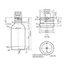 2 oz Matt White Glass Bottle w/ Matte Silver and White Regular Dropper