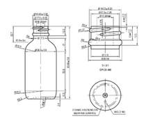 2 oz Multi Fade Glass Bottle w/ Matte Silver and White Regular Dropper