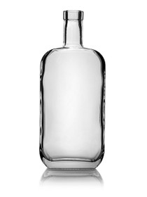 (Pk of 12) 750ml Glass Nashville Bottle 21.5mm Bar Top Cork
