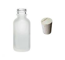 1 oz Frosted Glass Bottle w/ Cork