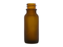1/2 OZ. Frosted Amber Glass Bottle, 18/400 Finish Case of 450