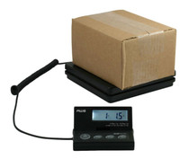 American Weigh Ship Elite Low Profile Ship Scale Backlit LCD Screen, AC Adapter SE-50, Black