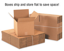 Plain Brown Corrugated Shipping Box, 32 ECT, 25/Bundle